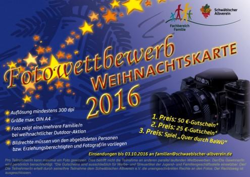 Wettbewerb _Familienweihnachtskarte 2016
