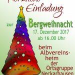 Bergweihnacht in Neckarhausen